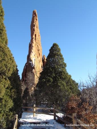 Steeple Rock and Fir Trees