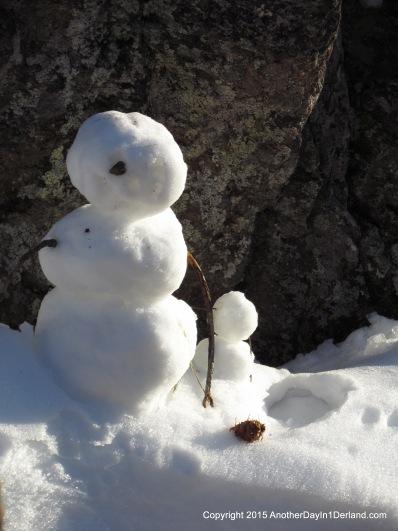 One-Eyed Snow Guy & Friend