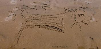 Happy Fourth Sand Art