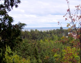 Lake Huron, view while climbing