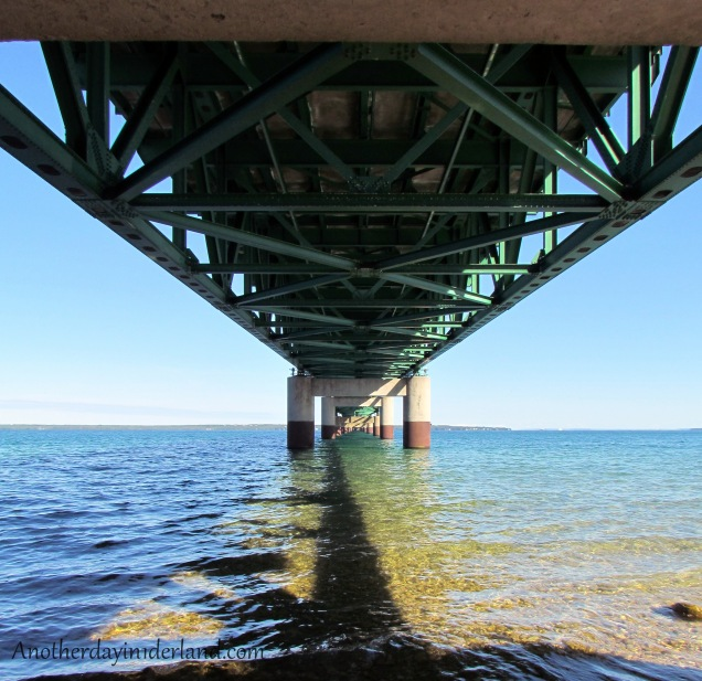 View From Under the Mackinac Bridge